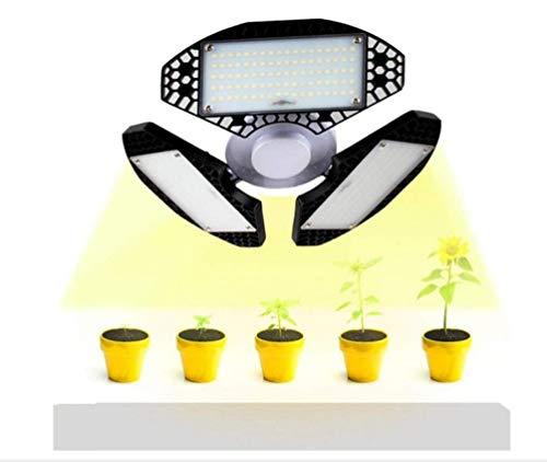 Iluminación moderna Luz plegable 50W LED crecimiento de las plantas de interior de la luz 3 modos de crecimiento, floración, Full Spectrum crecimiento de las plantas luz E27 luz del sol completa del e