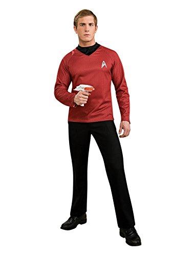 Rubies 3 889119 M - Star Trek Deluxe Shirt, Größe M, rot