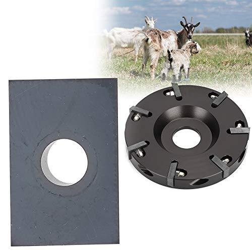 Cikonielf Cortador de pezuñas, disco de ganado, oveja, vaca, caballo, pezuña, placa de corte, con 7 cuchillas más afiladas (metal)