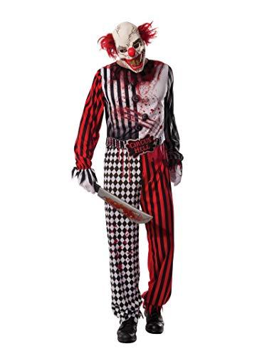 Rubie's, Horrorclown-Kostüm für Erwachsene, offizielles Halloween-Lizenzprodukt, Standardgröße