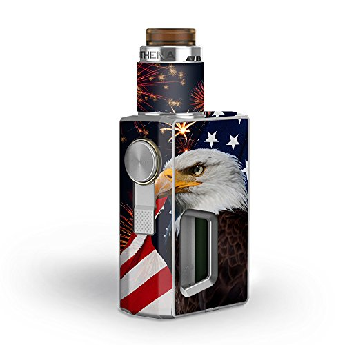 Skin Decal Vinyl Wrap for GeekVape Athena Squonk Kit Vape Kit skins stickers cover/ Eagle America Flag Independence