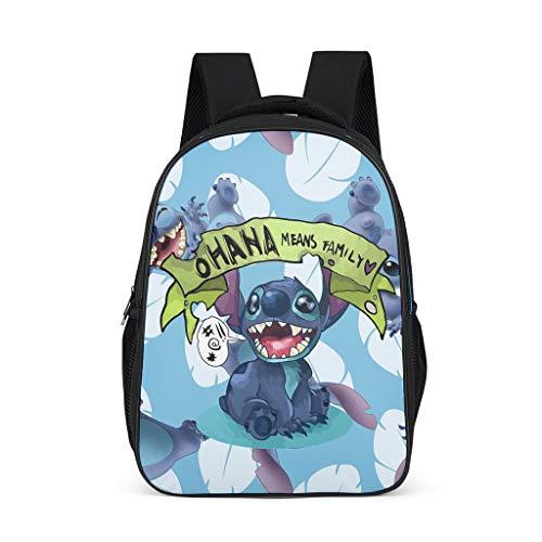 Kids' Backpack Fashion Stitch Ohana Means Family Backpack Kindergarten Students Daypacks bright gray onesize