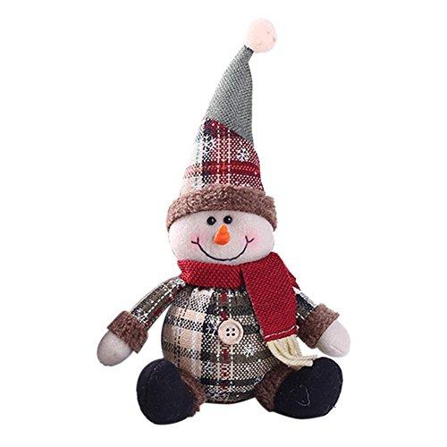 AITOCO Muñeca de la decoración de la Navidad, Estilo Encantador de Santa/Snowmen/Elk para el árbol de Navidad Que cuelga o...