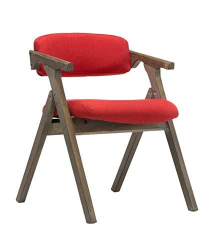 QQXX Vintage massief houten eetkamerstoel klapstoel rugleuning en fauteuil vrijetijdsstoel tafel en stoelen koffiestoel (kleur: A) 3 3