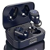 Eono by Amazon-Auriculares de botón inalámbricos Eonobuds 1 con Bluetooth, Sonido nítido,IPX7 de impermeabilidad,Carga USB-C,Auriculares Bluetooth en la Oreja para el Trabajo (Azul Oscuro)