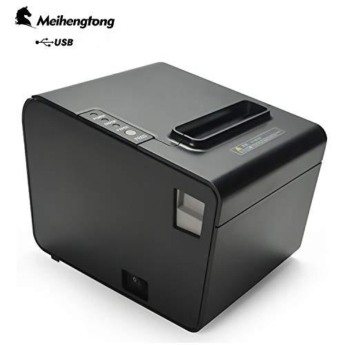 Drucker zu erhalten, Meihengtong Thermodrucker Bondrucker Belegdrucker 80mm Quittungsdrucker sek Bon Ticketdruck Ticketcode Thermodrucker Automatischer Cutter mit USB (P80B(USB Version))