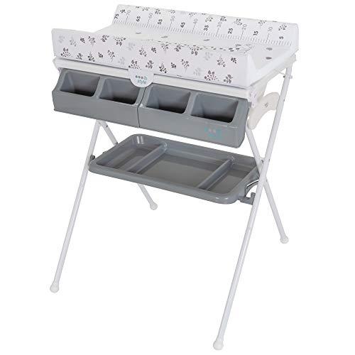 ib style® KOA Wickeltisch mit Badewanne | mobiler Wickeltisch | Klappbar |4 Dekore | METRIC GIRAFFE