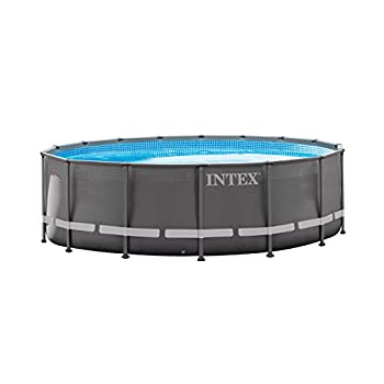 Intex 16ft X 48in Ultra Frame Pool Set with Filter Pump Ladder Ground Cloth & Pool Cover