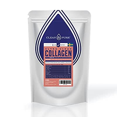 Clean & Pure Collagen Powder | Lab Tested Bovine Peptides | Supplements for Men & Women | No or Zero Growth Hormones, Pesticides or Vet Meds | UK's Only Lab Tested Collagen | Sourced from Sweden