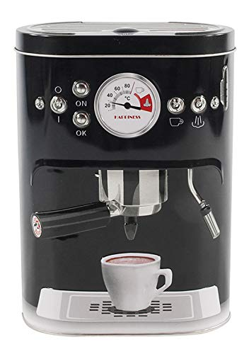 MIJOMA Retro Vorratsdose, Kaffee-Dose aus Blech, Kaffeemachinendesign, Geschenk-Idee für Nostalgie-Fans, 1500ml