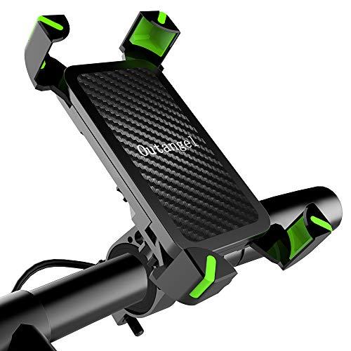 Fahrrad Handyhalterung, Universelle Fahrrad & Motorrad Lenkerhalter für Smartphones bis zu 6,5\'\' (16,5 CM), 360° Drehbare Verstellbare Telefonhalterung, Werkzeuglose Installation Fahrrad GPS Geräte