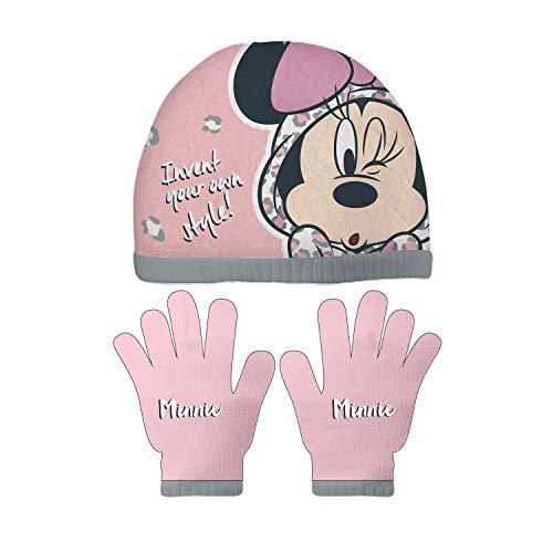ARDITEX WD12845 Set de Guantes mágicos y Gorro de poliéster de Disney-Minnie