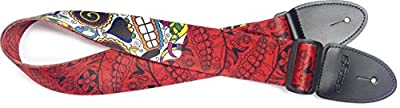 Red Day of the Dead Guitar Strap