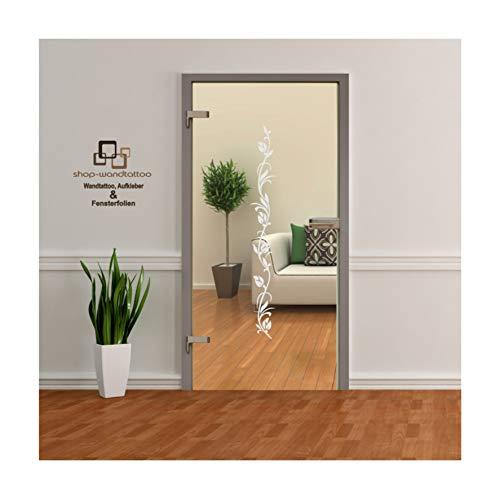 rs-interhandel Glastür Aufkleber Tattoo Folie Glasdekor Fensterfolie Sichtschutz Wohnzimmer oder für alle Glasflächen Sichtschutzfolie für Türen GDT005 Größenwahl (ca. 120cm x 15cm)