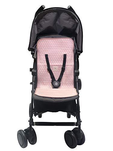 BEECOZIE Forro universal para cochecito de bebé, almohadilla de algodón suave y transpirable para cochecitos (rosa brillante pavo real)