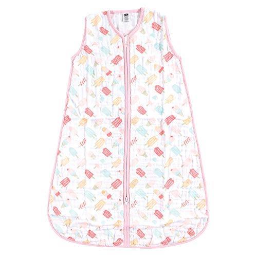 Hudson Baby Unisex Muslin Cotton Sleeveless Wearable Sleeping Bag, Sack, Blanket, Ice Cream, 6-12 Months