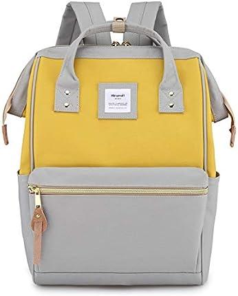 Himawari - Mochila escolar de viaje con puerto de carga USB de 15.6 pulgadas, bolsa de trabajo para mujeres u hombres, universitarios