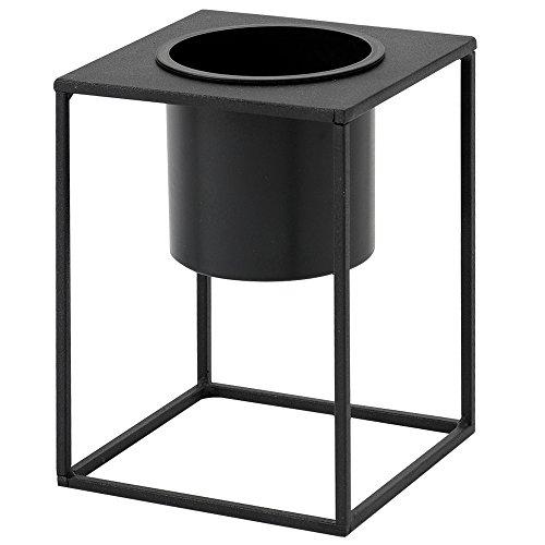 ルームアンドホーム 鉢カバー ブラック 20×15×15cm スタンド フラワーベース 花器 S モノ 植木鉢 F型