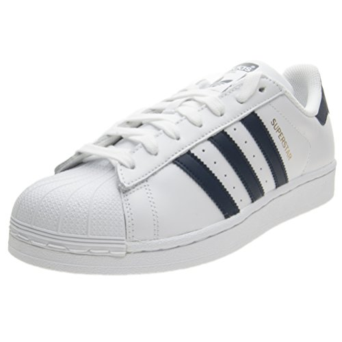 adidas Men's Superstar Low-Top Sneakers, White (Footwear White/Collegiate Navy/Footwear White 0), 5 UK 38 EU