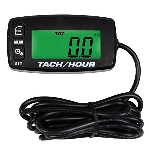 Small Engine Tachometer Hour Meter - Searon Inductive Tachometer for Outboard Engine Chain Saws Tractors Lawnmowers Motorcycles Marine Engines RC Toys PWC ATV