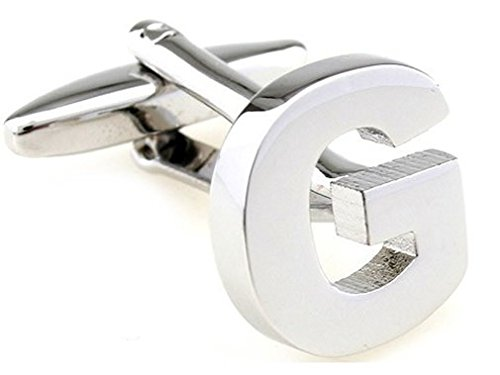 TEROON Cufflinks Lettre initiale 'G' [Bouton - NON paire]