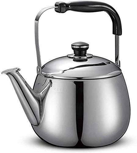 Bouilloire induction Coffee Pot Camping Siffloir Kettle Théière Intérieur Pique-nique extérieur Argent Universal for cuisinière à induction et cuisinière à gaz WHLONG