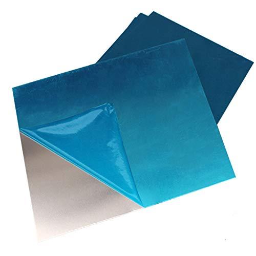 Yuhong-Platos 100x100mm 1060 placa de aluminio tablero de hoja de aluminio marco de placas for impresora 3D Cama con calefacción de bricolaje con calentamiento, Alta pureza ( Width : T6x100x100mm )