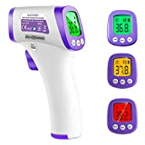 HALIDODO Termómetro digital sin contacto, Termómetro láser, Sensor infrarrojo, Alarma de fiebre, Lectura digital, Pantalla LCD (THA-015)