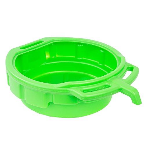 OEM TOOLS 87034 Green 4 Gallon Portable Oil Drain Pan, Antifreeze Drip Pan, Transmission Drain Pan with EZ Grip Handles and Angled Pour Spout, Splash Free