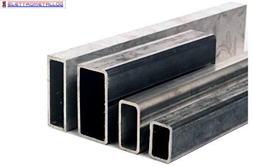 Barra rettangolo in Ferro grezzo spessore 3 mm (80x40x3x3000 mm)