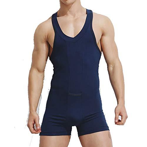 TRESOMI Man Tummy Control Shapewear,Waist Trainer Tummy Fat Burner Flattens The Chest and TorsoThin and Light Underwear Blue
