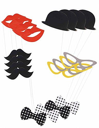 Kit photobooth 20 pièces - taille - Taille Unique - 307397