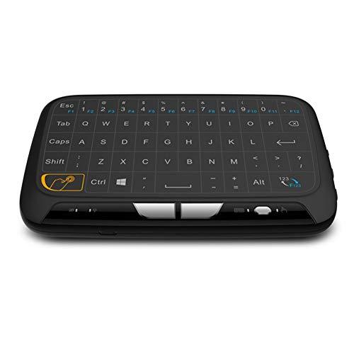 KK Zachary Wireless-Tastatur, Fernbedienung, Multifunktionales 2,4 GHz Wireless Full Panel Touchpad und Mini-Tastatur mit USB-Schnittstelle