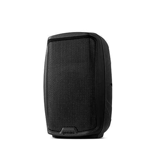 """Gemini Sound AS-2108P Amplified 2-Channel PA DJ System, 8"""" Inch Woofer 500W Watts Power Speakers with XLR Input/Output, 2 x 1/4"""" Inch Microphone/RCA and AUX Inputs w/Handles"""