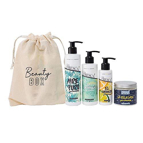 Beauty Box La Fresca! Capilar para cabellos grasos con extractos naturales, ecológicos y veganos. Pack regalo original para Navidad, San Valentin o el amigo invisible.