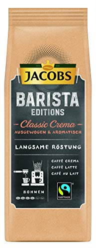 Jacobs Kaffeebohnen Barista Editions Classic Crema, Bohnenkaffee, 6er Pack (6 x 210 g)