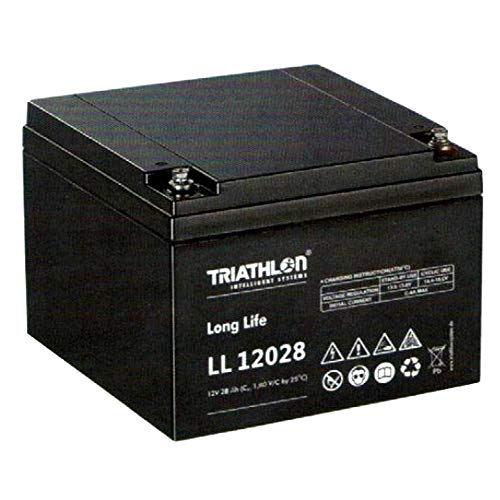 Triathlon Long Life AGM Batterie 12Volt 28AH wartungsfreie verschlossene VLRA Batterie (Valve Regulated Lead Acid)