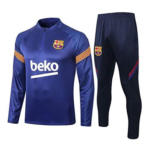 HIAO Camiseta del Club Europeo Traje de fútbol Club de Hombres de Manga Larga Transpirable Entrenamiento de fútbol, Ropa de Deporte Uniforme de Competencia (Tapas + Pantalones) Q02113 A00201