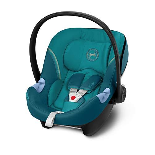 CYBEX Gold Seggiolino Aton M, Incl. riduttore per neonato, Dalla nascita fino a ca. 24 mesi, Max. 13 kg, Blu (River Blue)