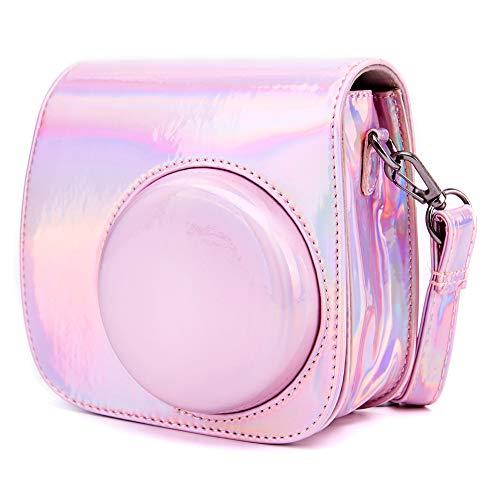 Funda cámara Compatible con Fujifilm Instax Mini 8 Mini 9 Mini 8+ cámara instantánea, Annle Funda Protectora de Cuero de la PU con Correa extraíble
