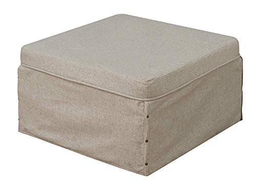 Convenience Concepts Designs4Comfort Folding Bed Ottoman, Taupe
