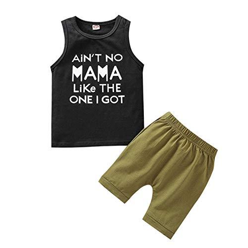 Juego de 2 piezas completo para niño de verano con camiseta estampada...
