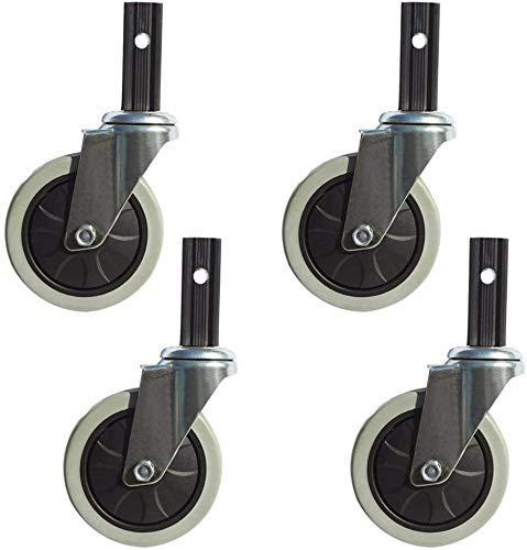 MKXF 4 Ruedas giratorias, combinación de Ruedas giratorias de 100 mm y Ruedas de Freno, para carritos de Comedor, carritos de Compras, Ruedas Blandas, silenciosas y Resistentes al Desgaste