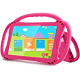 Kids Tablet, Tablet for Kids Learning Tablets 7 inch Dispaly, Android Quad-Core 1GB+32GB with Handle Case Support WiFi Camera Educational APP Kids Edition (Rosered1)