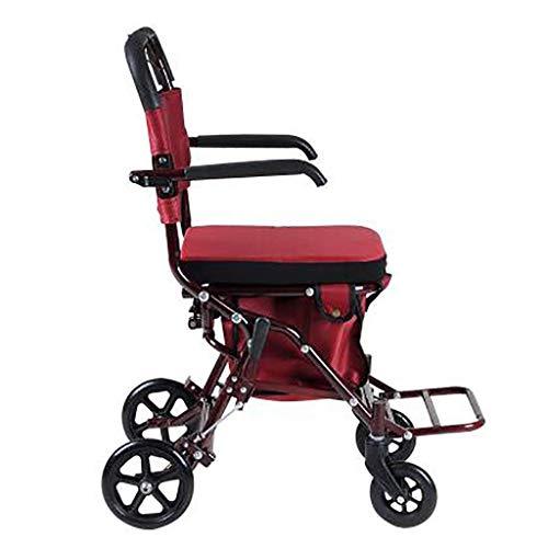 IGOSAIT Old Scooter plegable carrito de la compra asiento puede sentarse comestibles pequeño empuje carro hogar viejo carro mover Sundries