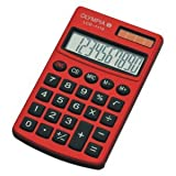 Olympia Taschenrechner LCD-1110 RD 10-stellig Batterie/Solar-Betrieb rot
