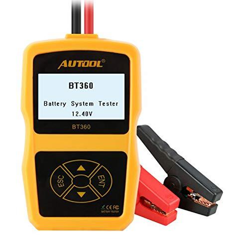 Autool BT360 Comprobador del Estado de batería de vehículo - 12V - CCA 100 – 2400