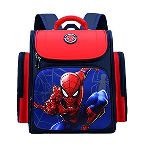 Xyh723 Mochila De Spiderman para Niños Escolar De Dibujos Animados De Superhéroe De Viaje para Adolescentes Mochilas con Estampado 3D Regalo De Cumpleaños,Red-M