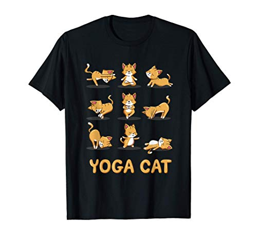 Cat Yoga Zen Cat Yoga Pose Meditation Men Women Kids Camiseta