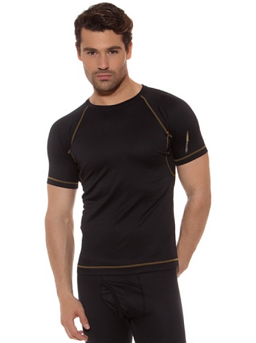Unno Camiseta M/C Thermal Negro SG